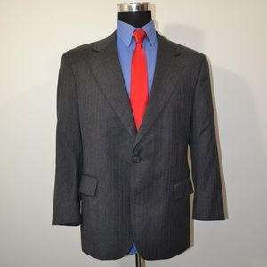 Jos A Bank 42S Sport Coat Blazer Suit Jacket Gray